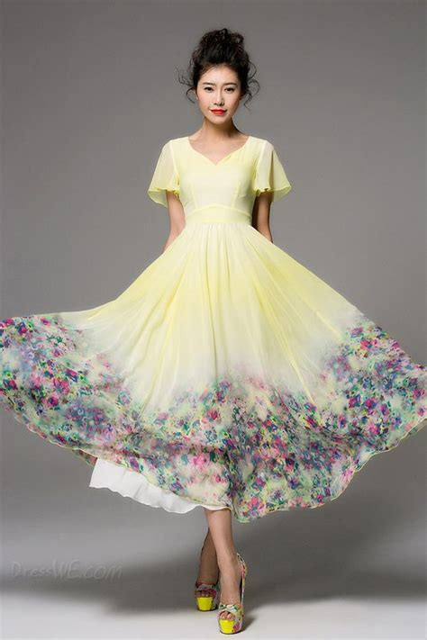 Drss 962 Flowy Roses Maxidress dress vintage maxi dress floral dress chiffon dress
