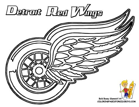 coloring pages of hockey logos nhl mascots coloring pages print kaboodle detroit red
