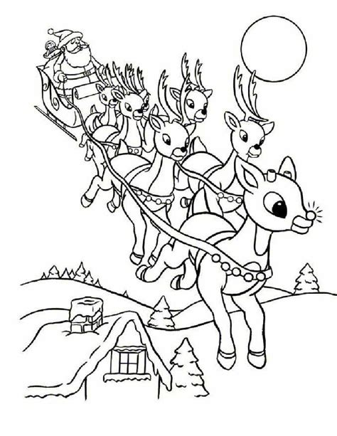 coloring pages for christmas reindeer online rudolph and other reindeer printables and coloring