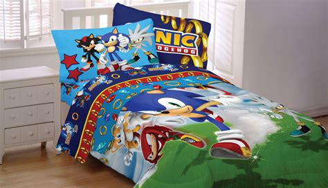 sonic hedgehog speed twin bedding set 4pc sega video