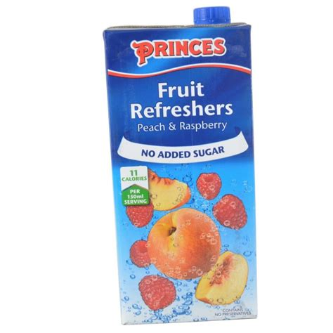 fruit refreshers princes fruit refreshers and raspberry 1 litre