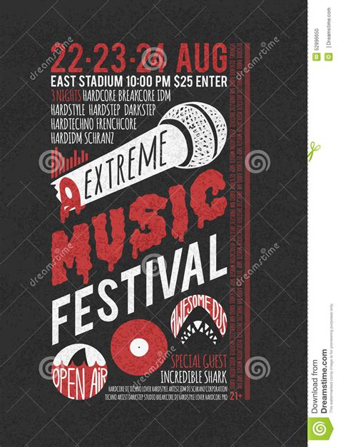 concept de fond d affiche de festival de musique