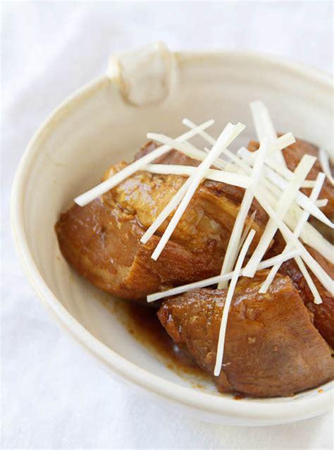 printable japanese recipes japanese braised pork belly buta no kakuni recipe la