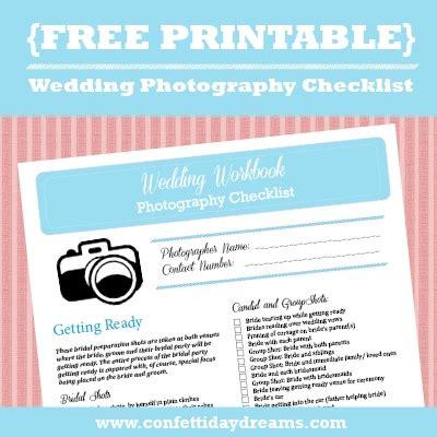 Wedding Checklist Free by Wedding Photography Checklist Free Printable