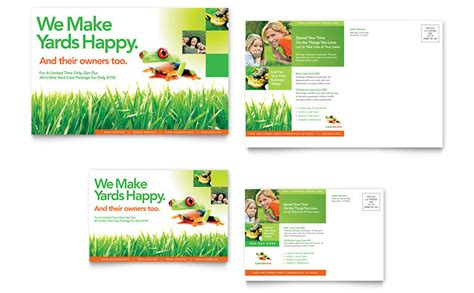 lawn care advertising templates lawn maintenance postcard template word publisher