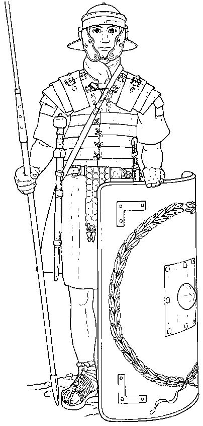roman soldier page coloring pages