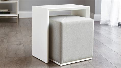 white and silver side table modern multipurpose side table set grey uk delivery