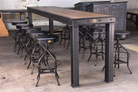Vintage Bar Table Firehouse Bar Table Vintage Industrial Furniture