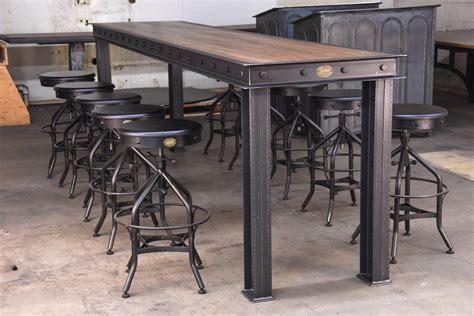 Firehouse Bar Table ? Model #FH9 ? Vintage Industrial