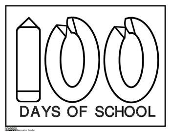 school coloring pages 100th day of school and 100th day