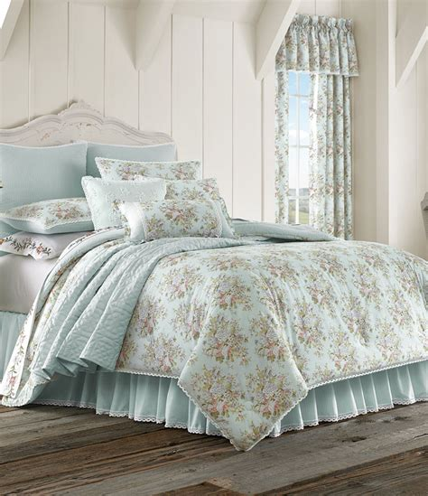 Flower Bedding Sets by Piper Wright Lace Trimmed Floral Striped