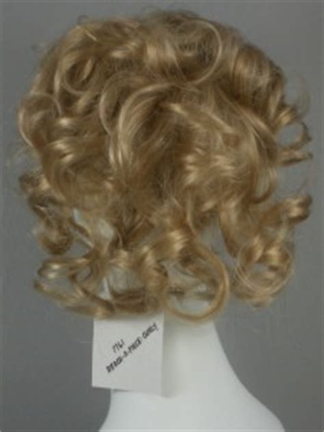 hair pcs for thinning top curly salt pepper grey clip on wiglet pull thru piece for