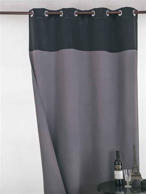 Rideau Noir Occultant by Rideau Occultant Bicolore Noir Gris Beige Et Blanc