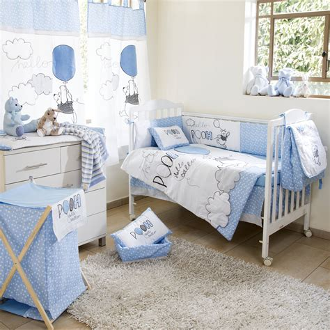 Disney Blue Winnie The Pooh Play Crib Bedding Boys Crib Disney Crib Bedding For Boys
