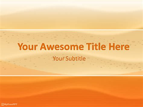 Free Abstract Powerpoint Templates Themes Ppt Desert Powerpoint Background
