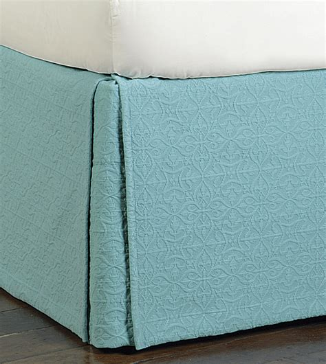 aqua bed skirt luxury bedding by eastern accents mea aqua bed skirt