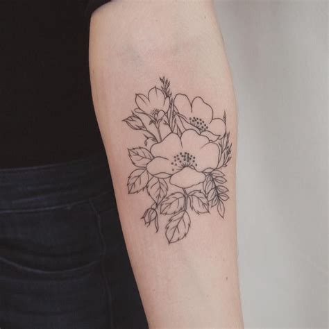 wild rose tattoos wildflower bundle toronto jess chen