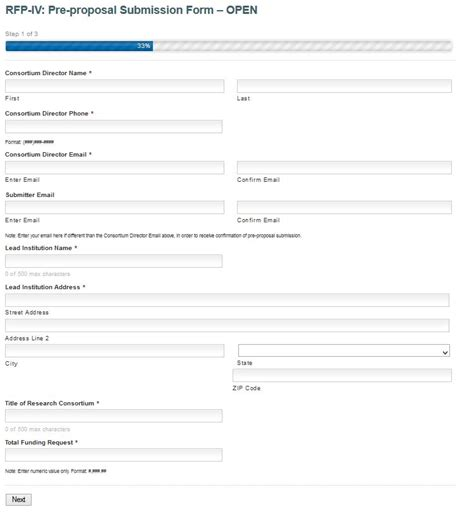 RFP IV: Pre proposal Submission Form Reference   GoMRI