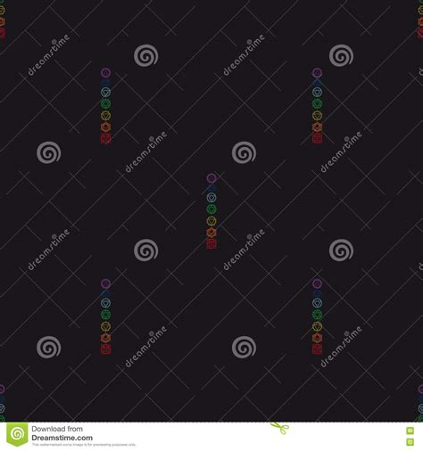 geometric pattern results in disjoint bodies chakras vector set cartoon vector cartoondealer com