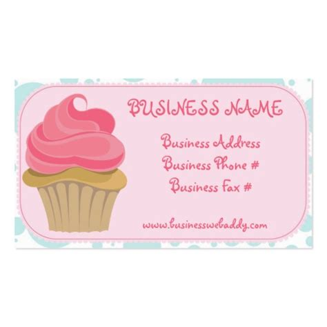 cupcake business cards templates free bakery cupcake business cards zazzle
