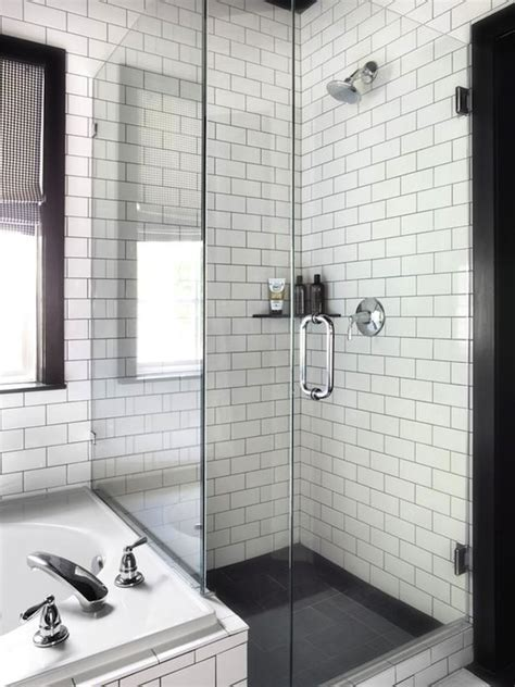 white subway tile bathrooms 26 white bathroom tile with grey grout ideas and pictures