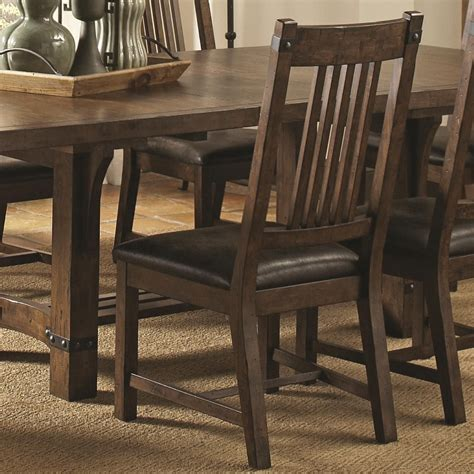 Rustic Leather Dining Chair Padima Rustic Leather Dining Side Chair Set Of 2 From Coaster 105702 Coleman Furniture