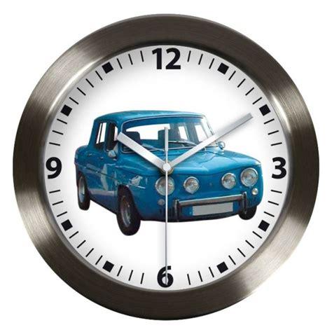 horloge murale bleue pendule voiture de collection r8 gordini renault pendule automobile ancienne retrotime