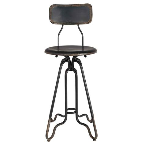 Blackened Stools With Ferrous Sulphate by Distressed Iron Counter Stool In Black Bar Stools Cuckooland
