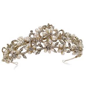 bridal tiaras ivory and co shelby gold tiara bridal jewellery bridal accessories