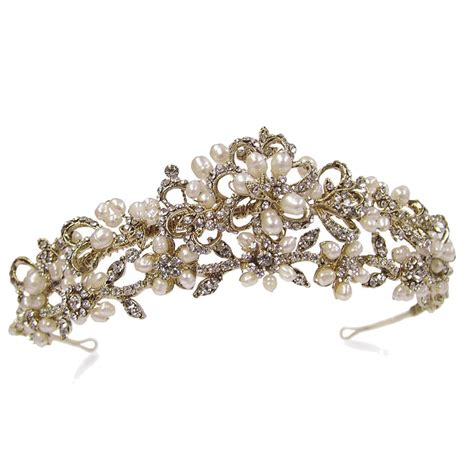 Ivory and Co Shelby Gold Tiara   Bridal Jewellery