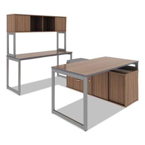 Open Office Desk Alelstb24gr Alera Open Office Desk Series Adjustable O Leg Desk Zuma