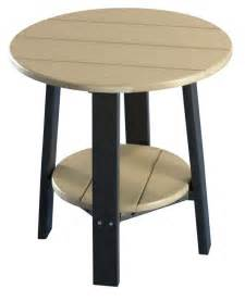 outdoor poly furniture wood deluxe end table