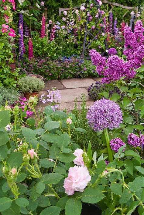 Fragrant Perennial Garden In Late Spring Or Early Summer Fragrant Garden Flowers
