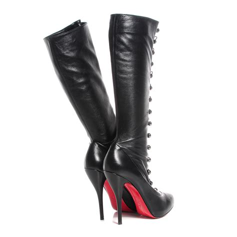 christian louboutin leather supra fifre 120 thigh high