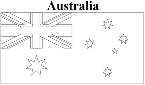 Geography Blog: Australia Flag Coloring Page