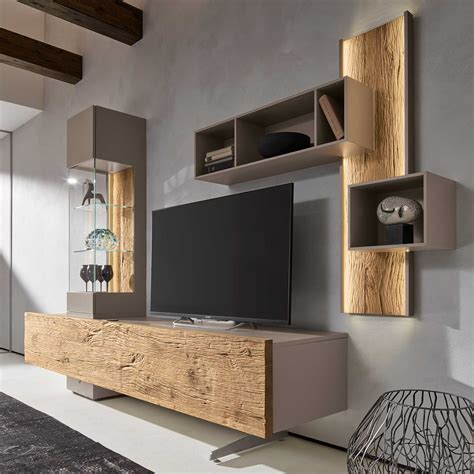 wall units for living room uk bohle combination tv wall unit oak glass occasional tables living room
