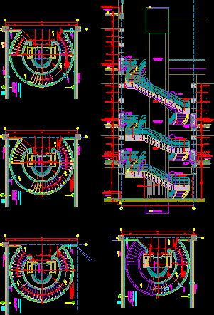 circular stair in autocad cad download 40388 kb