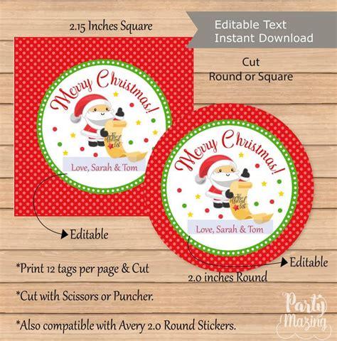 printable gift tags for christmas editable editable santa claus christmas favor tag printable gift