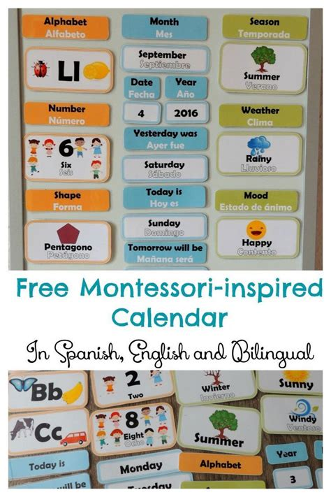 printable montessori language cards free multilingual montessori inspired calendar printable