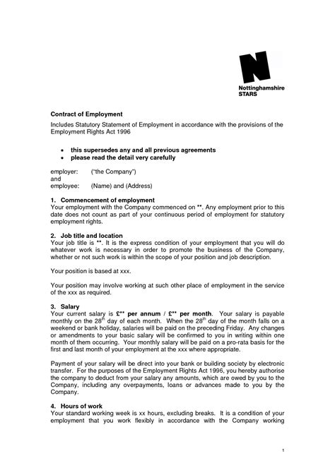 best photos of uk employment contract template