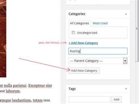 cara membuat blog com 118 tambah category wordpress hardinal com blog
