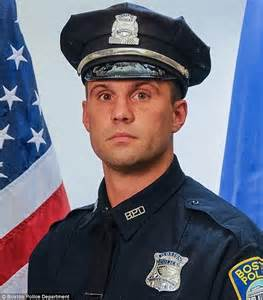 Officer In by Of Moment Boston Officer Moynihan Was In