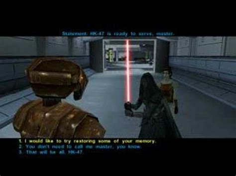 tutorial old republic swkotor tutorial playing as darth revan youtube