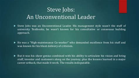 biography of steve jobs powerpoint steve jobs visionary leader
