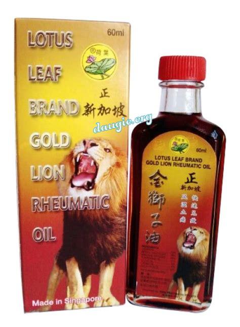 lotus leaf brand gold rheumatic dầu khớp sư tử l 193 sen singapore 60ml lotus leaf brand