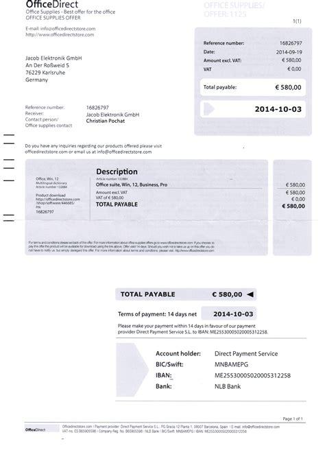 Rechnung Privatperson Eu Betrugsmasche Officedirect Wieder Im Umlauf
