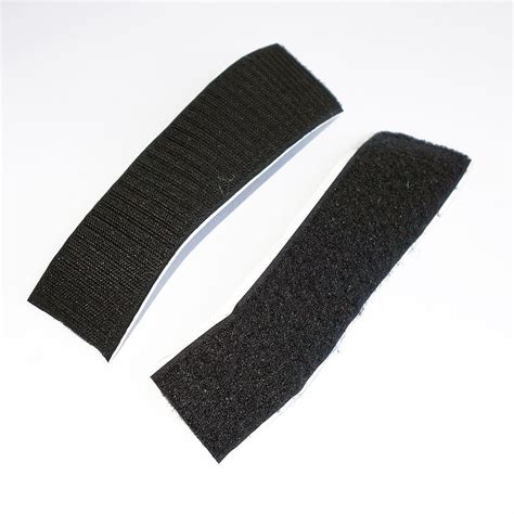 Velcro The self adhesive hook and loop velcro 174 200mm black