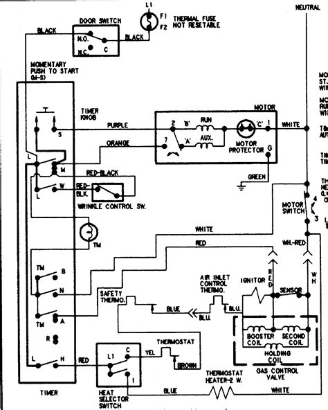 wiring diagram for amana dryer amana dryer power cord