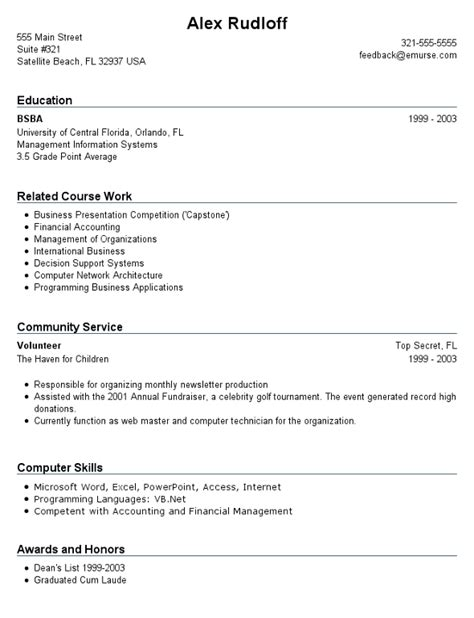 resume format resume exles not much experience