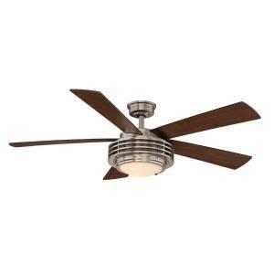 harbor breeze avian ceiling fan harbor breeze 52 in avian brushed nickel ceiling fan with